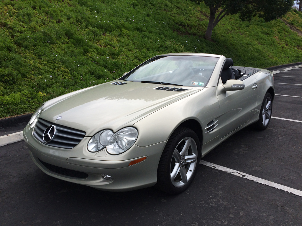 2003 mercedes sl500 silver on black san marcos encinitas autoconsignment san diego. Black Bedroom Furniture Sets. Home Design Ideas