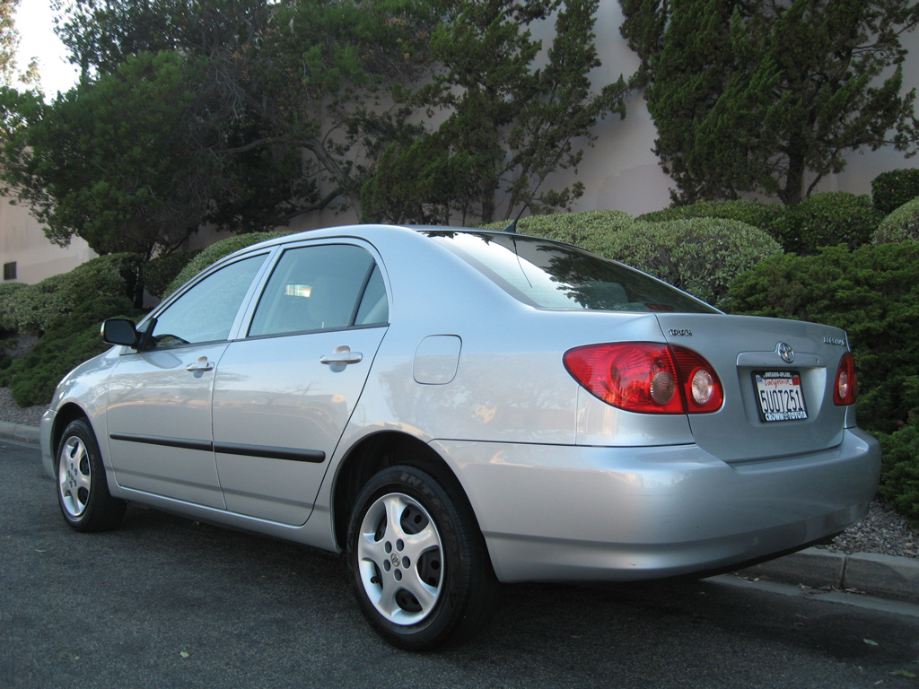 2006 Toyota Corolla Ce Silver On Gray Cloth Auto