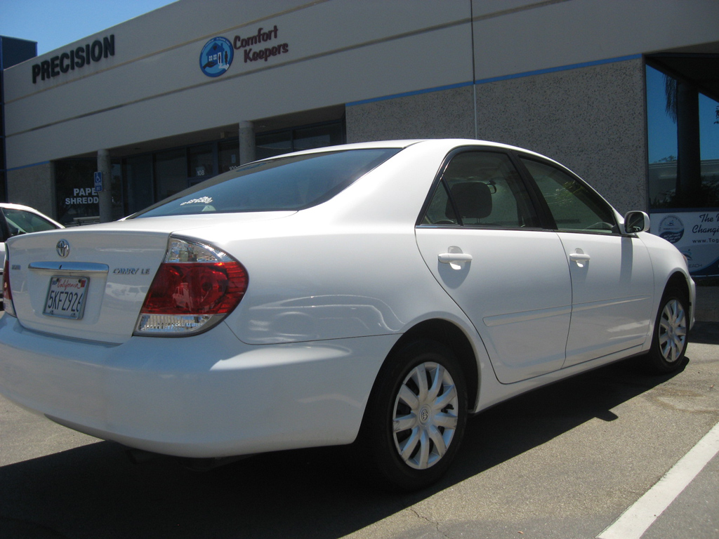 2005 Toyota Camry Le White On Tan Auto Consignment San Diego